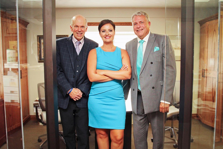 Attorneys Dominika Prabucki, Justin Ellery and Len Ellery